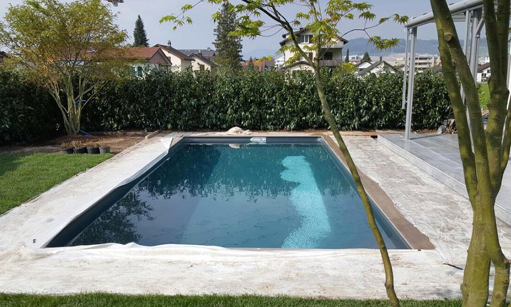 Poolbau Schwimmbecken Schweiz