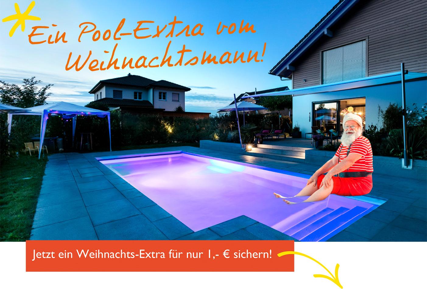 Pool-Extra vom Weihnachtsmann